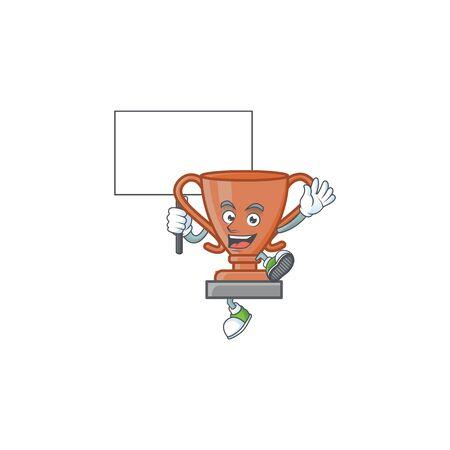 Bring board bronze trophy for the third winner. vector illustration