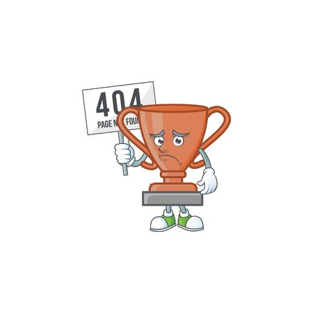 Pouting with bring board bronze trophy for the third winner. vector illustration Фото со стока - 131927756