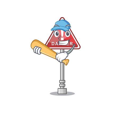 Playing baseball danger  in cartoon vector illustration  イラスト・ベクター素材