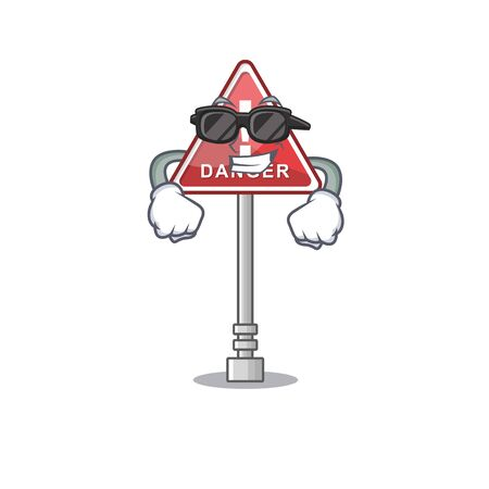 Super cool danger cartoon isolated in the character vector illustration