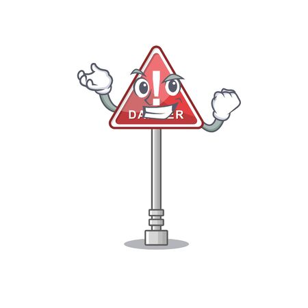Successful danger cartoon isolated in the character