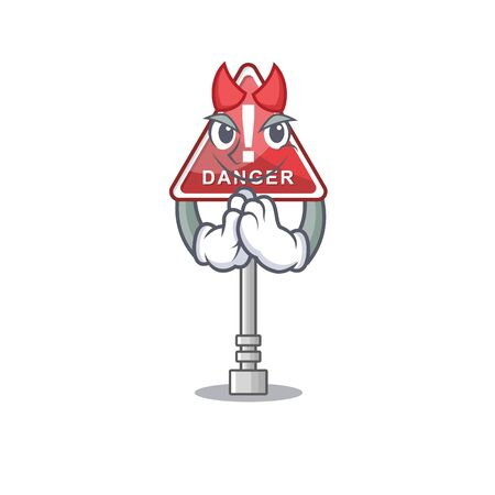 Devil danger character in the mascot shape Ilustração