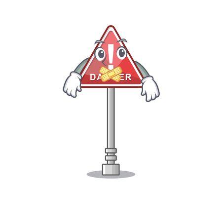 Silent miniature danger in shape of mascot Banque d'images - 131948585