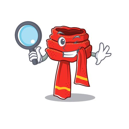 Detective scarf mascot isolated in the cartoon Иллюстрация