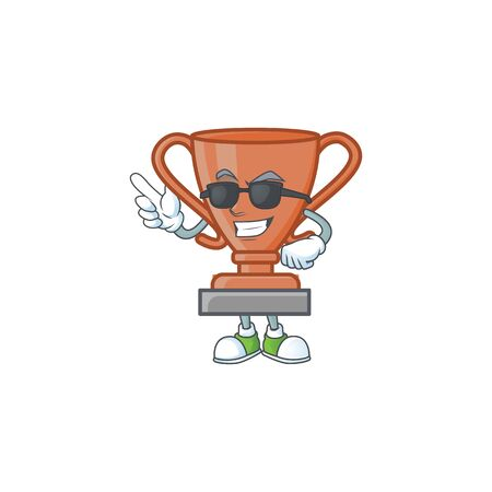 Super cool cup bronze trophy for win collection. vector illustration Ilustrace