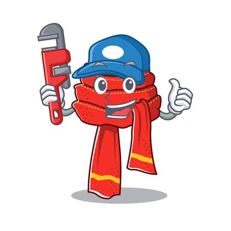 Plumber scarf hung on the character wall Иллюстрация