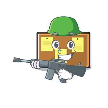 Army bulletin board with the cartoon shape Illustration