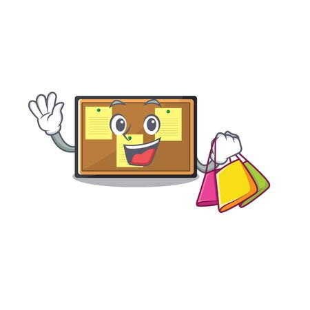 Shopping bulletin board stuck to wall character Banco de Imagens - 132108853