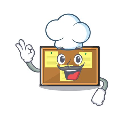 Chef bulletin board stuck to wall character