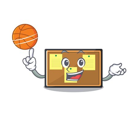 With basketball bulletin board with the cartoon shape Çizim