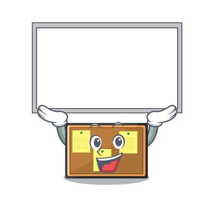 Up board bulletin board with the cartoon shape