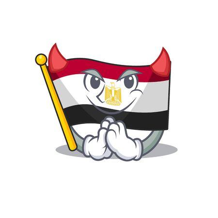 Devil flag egypt folded in mascot cupboard