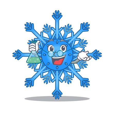 Professor snowflake hung on character christmas tree