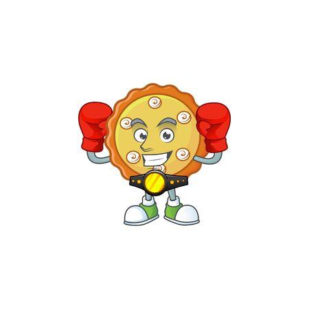 デザートのための甘いボクシングケーキアップルパイ。 写真素材 - 132117571