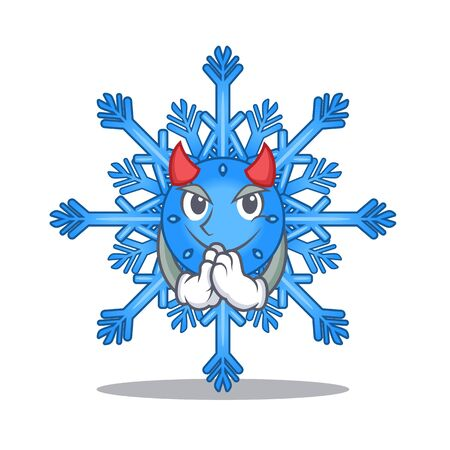 Devil snowflake isolated with in the mascot
