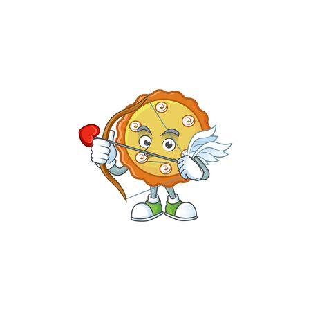 Cupid cake apple pie sweet for dessert. Ilustracja