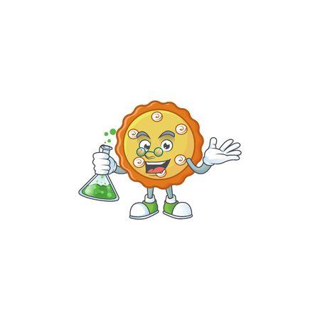 Professor sweet apple pie with fruit fresh. Ilustracja