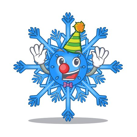 Clown cute cartoon shape from snowflake toy