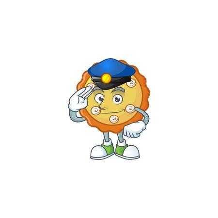 Police cake apple pie sweet for dessert. vector illustration 写真素材 - 131999853