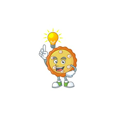 Have an idea apple pie cartoon character with mascot vector illustration