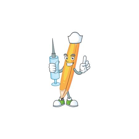 Nurse sharp pencil for the equipment school. vector illustration Ilustracja