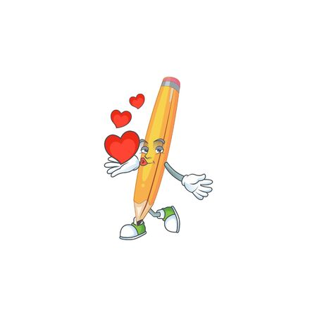 With heart pencil stationery for in elementary school.