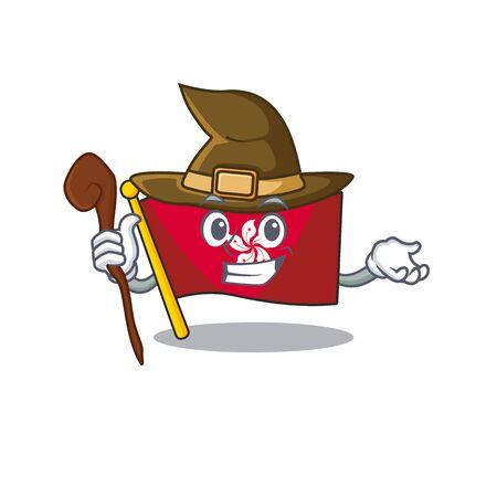 Witch flag hongkong character with cartoon shape Ilustração