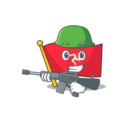Army flag isle of man the mascot 向量圖像
