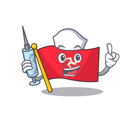 Nurse flag isle of man on character Illustration