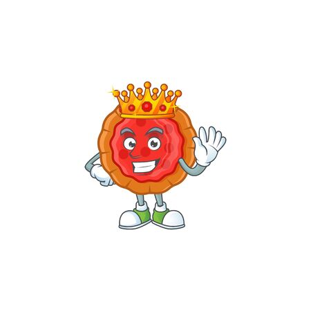 King cherry pie cartoon character with mascot Ilustrace