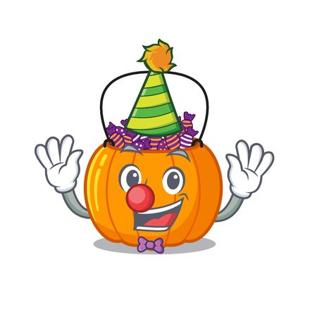 Clown candy bucket in the cartoon refrigerator vector illustration 向量圖像