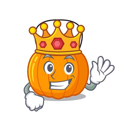 King candy bucket in the cartoon refrigerator vector illustration