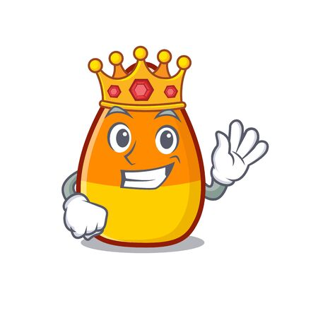 King candy corn placed on character plate vector illustration Ilustrace