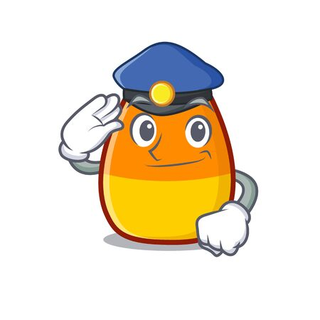 Police candy corn isolated with the cartoon vector illustration