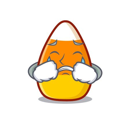 Crying candy corn in a mascot jar vector illustration 向量圖像