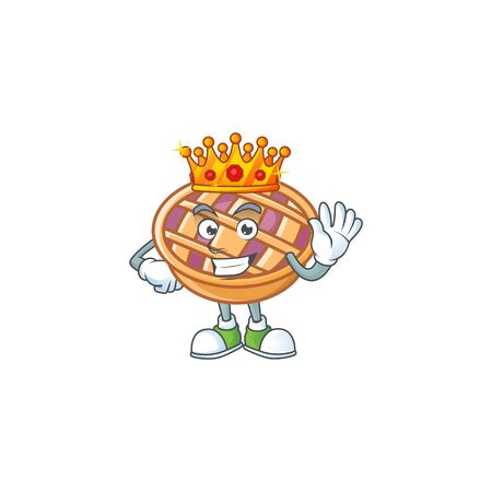 King fresh purple pie thanksgiving with nutrition. vector illustration 일러스트