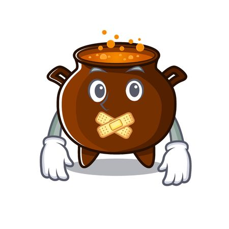 Silent miniature cauldron in the a cartoon vector illustration 向量圖像