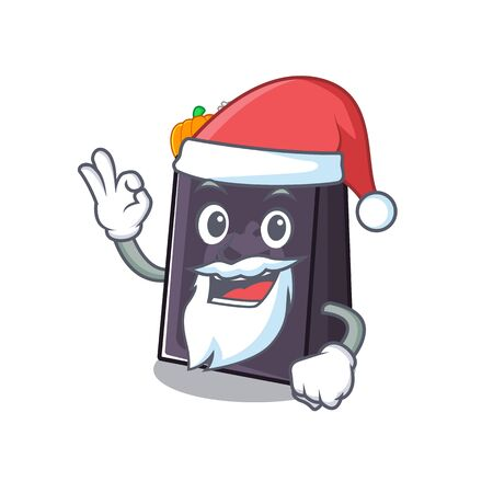 Santa halloween bag with the mascot shape vector illustration