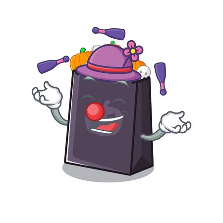 Juggling halloween bag with the mascot shape vector illustration 向量圖像