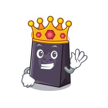 King halloween bag with the mascot shape vector illustration Ilustrace