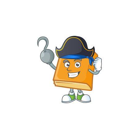 cornbread with pirate mascot for icon breakfast. vector illustration
