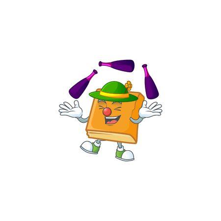 cornbread in the cartoon character juggling shape vector illustration