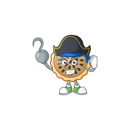 pecan pie with pirate mascot for icon character