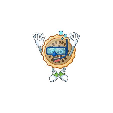 pecan pie diving with cartoon character shape