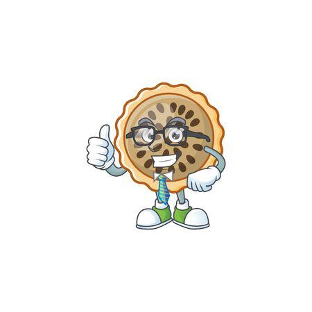pecan pie businessman with cartoon character shape