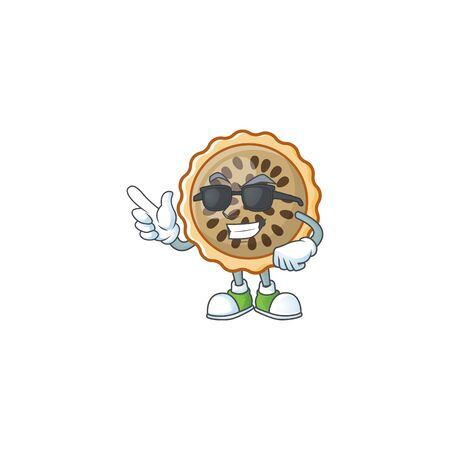 pecan pie super cool with cartoon character shape