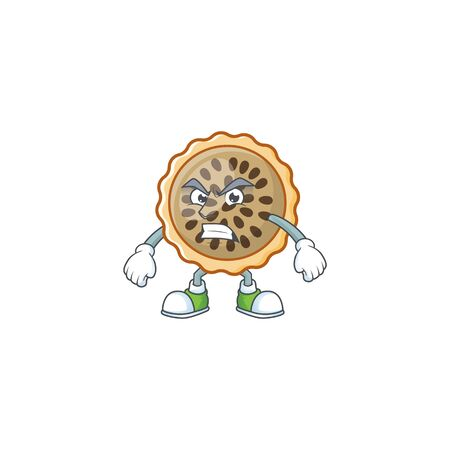 pecan pie annoyed with cartoon character shape