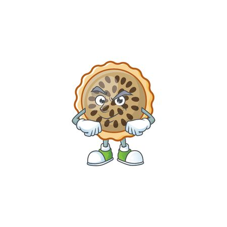 pecan pie smirking with cartoon character shape