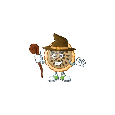 design pecan pie witch with seeds topping Illustration