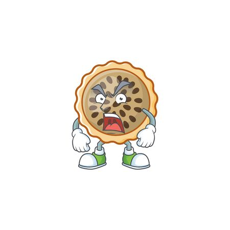 design pecan pie angry with seeds topping Illustration